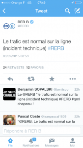 Quand trafic normal rime avec incident